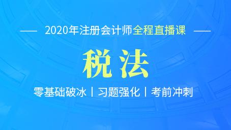 2020年注会税法考前冲刺第三讲