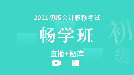 2021年初级会计职称畅学班(直播+题库)