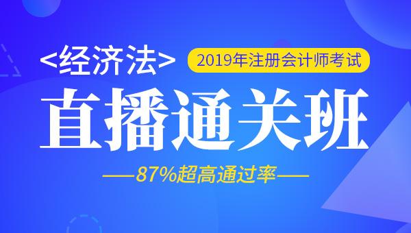 2019年注册会计师全程直播班-经济法