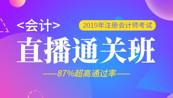 2019年注册会计师全程直播班-会计